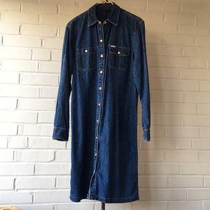 Ralph Lauren Denim Dress w/ Gold Snaps Size L